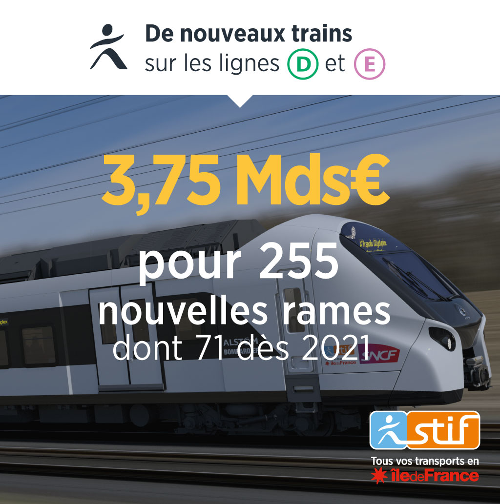 Ile-de-France, région, train, transports, commande, STIF, Bombardier, Alstom