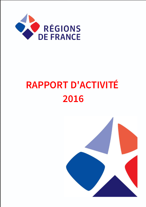 rapport, activite, 2016, Regions de France, association, elus, regions, collectivite, territoriale