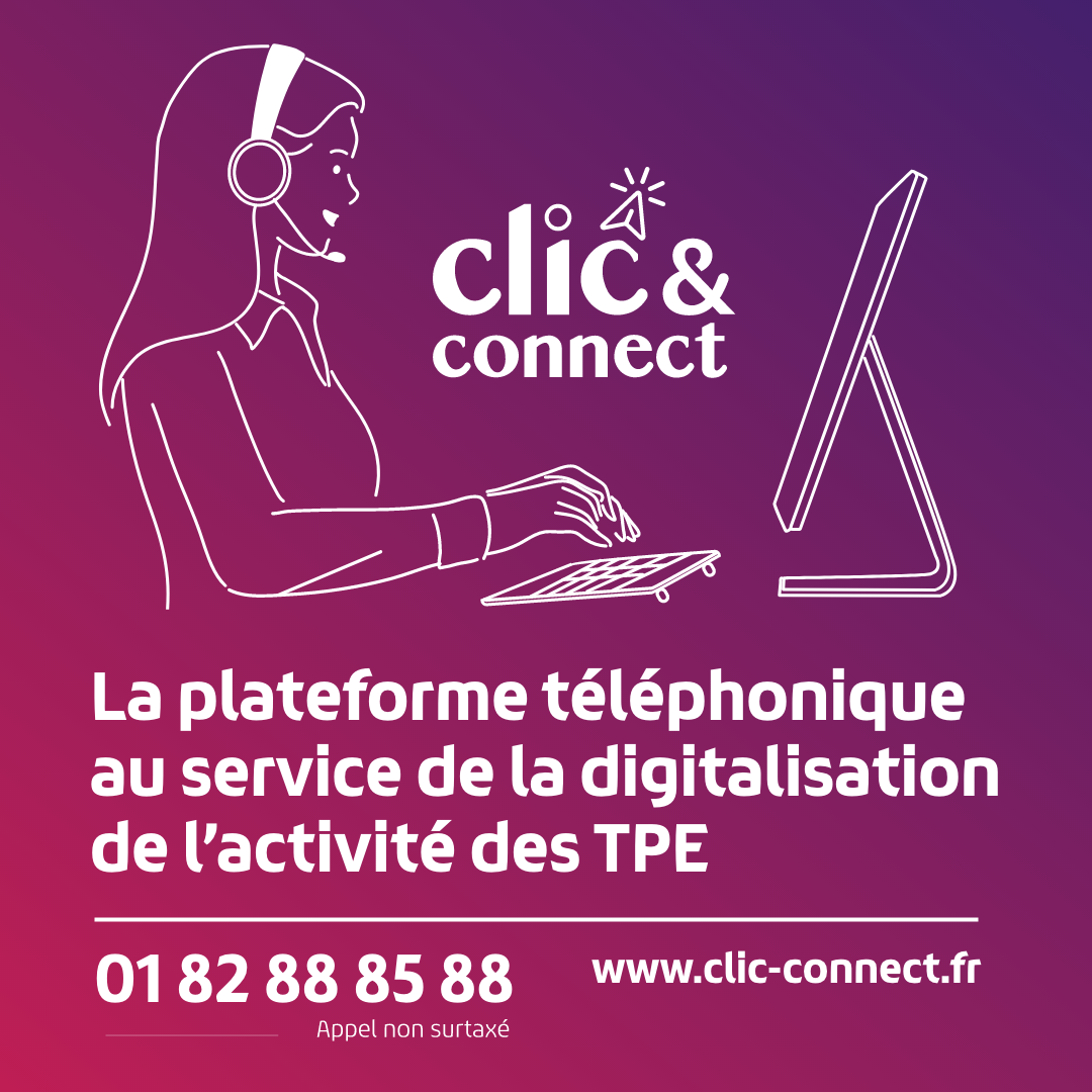 clic&connect, Banque des Territoires, artisans, commerçants, TPE, digitalisation, activité