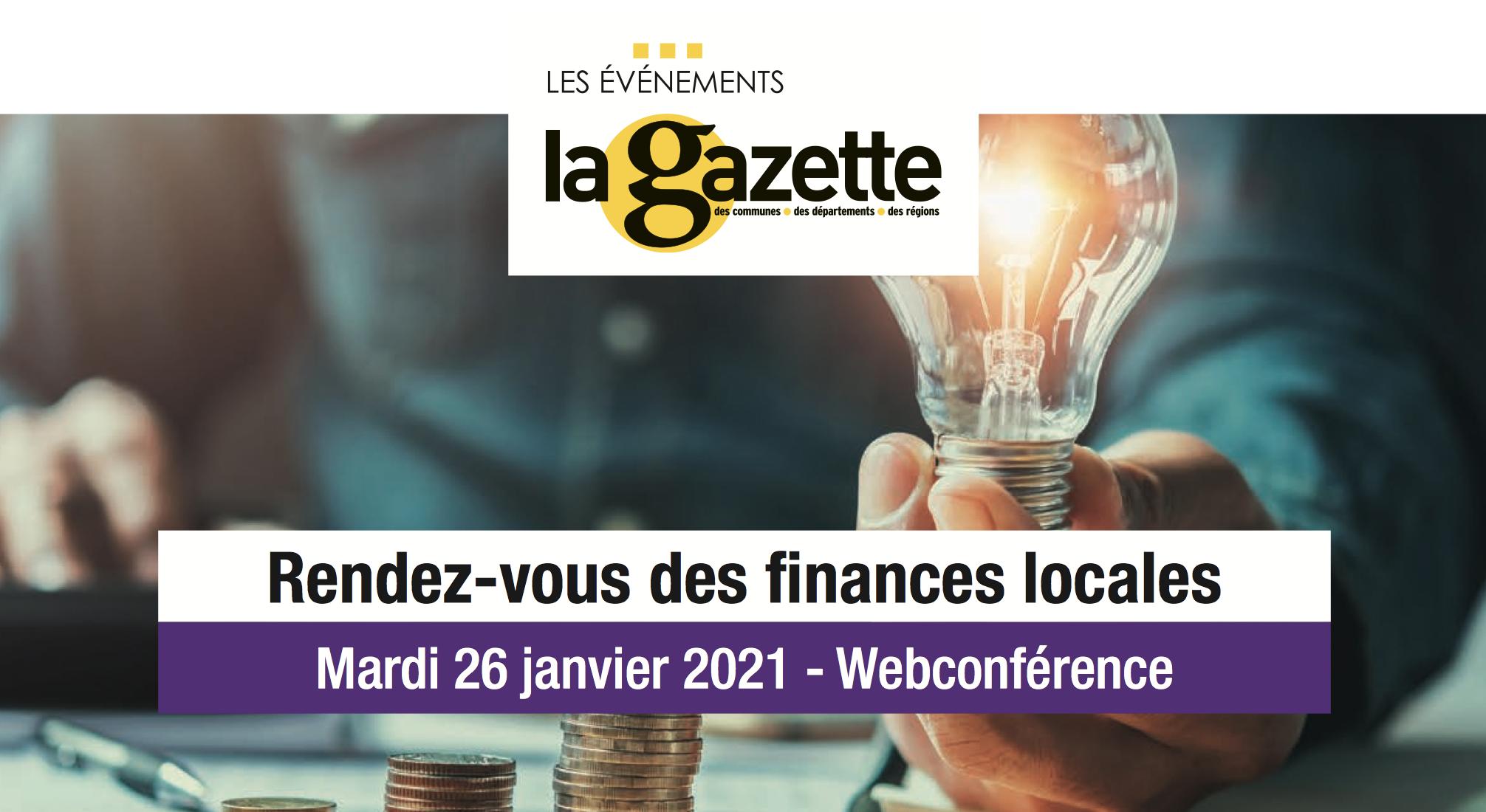 finances locales, webinaire, rendez-vous, la Gazette
