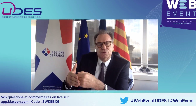UDES, Renaud Muselier, régions, France, ESS